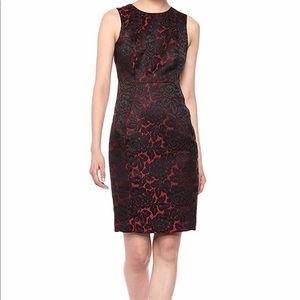 Calvin Klein Sleeveless Round Neck Lace Dress